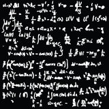 Blackboard with a math calculation Stock Photography