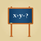 Blackboard with math equation and question Royalty Free Stock Photography