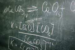 Blackboard. With mathematical formula written with chalk Stock Photo