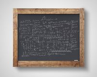 Blackboard with mathematical formulas Stock Photography