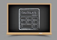 Blackboard mathematics calculate lesson Stock Photography