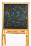 Blackboard with mathematics formulas Royalty Free Stock Photography