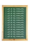 Blackboard med meddelanden Royaltyfri Foto