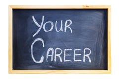 Blackboard med orden din karriär Royaltyfria Foton