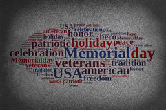 Blackboard with Memorial day. Royalty Free Stock Image