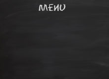 Blackboard Menu Stock Photography