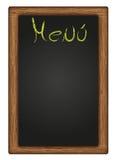 Blackboard Menu. Blackboard wood with the word menu Stock Images