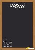 blackboard menu Fotografia Royalty Free