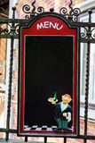 Blackboard Menu. A blank blackboard menu for a restaurant Stock Photography