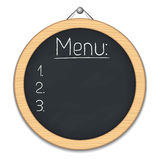 Blackboard with menu Royalty Free Stock Photo