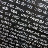 Blackboard Menu Stock Image