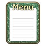Blackboard menu green Royalty Free Stock Photography
