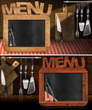 Blackboard Menu in the Kitchen Royalty Free Stock Photos