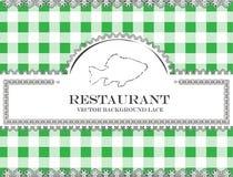 Blackboard menu restauraci koronkowa ryba royalty ilustracja
