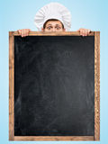 Blackboard for menu. Stock Photo