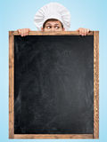 Blackboard for menu. Royalty Free Stock Photo