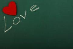 Blackboard miłość Fotografia Royalty Free