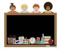 blackboard mienia dzieciaki Fotografia Stock