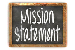 Blackboard Mission Statement Royalty Free Stock Photo