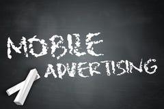 Blackboard Mobile Advertising. Blackboard with Mobile Advertising wording Royalty Free Stock Images