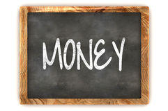Blackboard Money. A Colourful 3d Rendered Blackboard Concept Illustration, showing the word Money Stock Photo