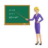 blackboard nära lärare Royaltyfri Foto