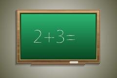 Blackboard na ścianie Fotografia Stock