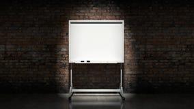 Blackboard na ściennym Ceglanym moździerzowym tle Zdjęcia Stock