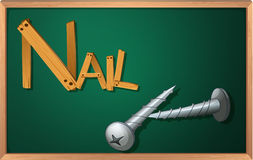 A blackboard with nails Royalty Free Stock Image