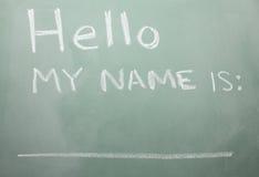 Blackboard Nametag Royalty Free Stock Images