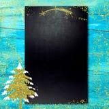 Blackboard narodzenia jezusa menu Obraz Stock