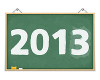 Blackboard with number 2013 Royalty Free Stock Photos