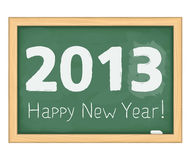Blackboard with number 2013. Blackboard with number of new year 2013 vector illustration