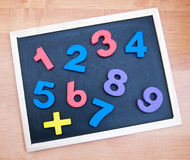 Blackboard with numbers Stock Photo