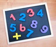 Blackboard with numbers Stock Photo