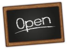 Blackboard Open Royalty Free Stock Photos