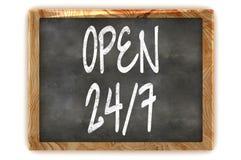 Blackboard OPEN 24/7 Stock Image