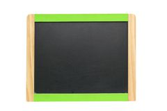 Blackboard over white Stock Photos