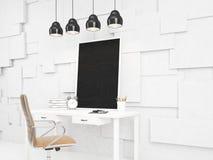 Blackboard på bordlägga Fotografering för Bildbyråer