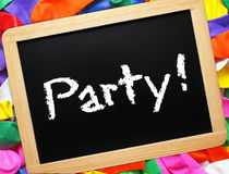 Blackboard party Stock Photography