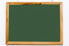 Blackboard and pencil on the white background Stock Images