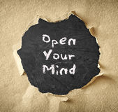 Blackboard with the phrase free your mind.  Royalty Free Stock Photos