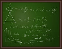 Blackboard with physical formulas Royalty Free Stock Photography