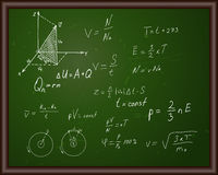 Blackboard with physical formulas Stock Photography