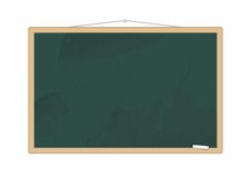Blackboard with a piece of chalk Stock Photo