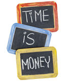 blackboard pieniądze czas Obrazy Royalty Free