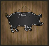 Blackboard pig Royalty Free Stock Image
