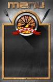 Blackboard for Pizza Menu Royalty Free Stock Image
