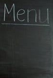 blackboard pojęcia menu obrazy royalty free
