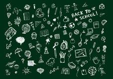 blackboard pojęcia szkoły nakreślenia Fotografia Royalty Free